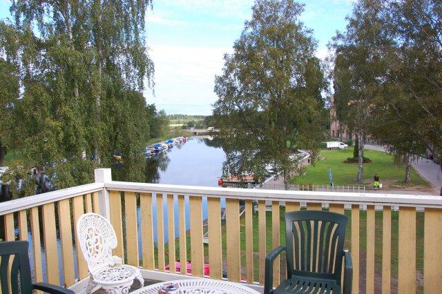 Ons balkon in Askersund
