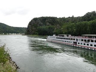 Cruiseschepen op de Rijn